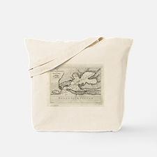 Vintage Map of Pensacola Florida (1763) Tote Bag