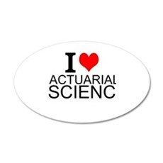 I Love Actuarial Science Wall Decal