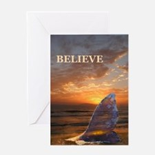 BELIEVE WHALE Greeting Card