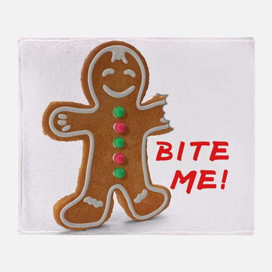 Gingerbread Person Cookie Throw Blanket