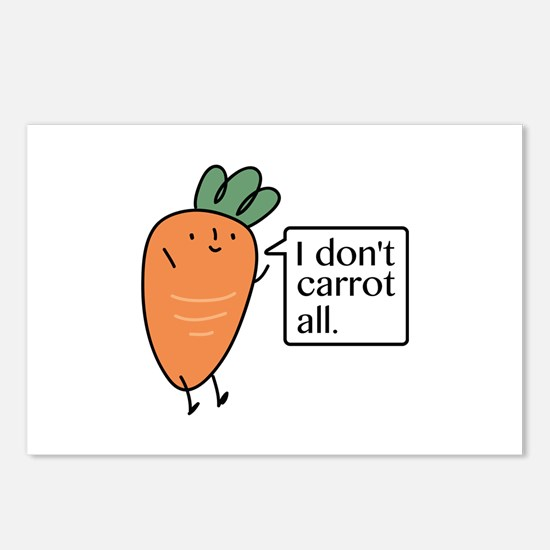 I Don't Carrot All Postcards (Package of 8)