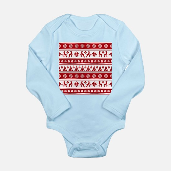 Christmas Holiday Nordic Pattern Cozy Body Suit