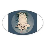 English Setter Puppy Oval Sticker