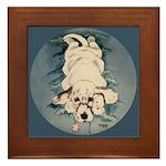 English Setter Puppy Framed Tile