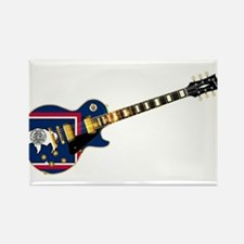 Wyoming State Flag Guitar Magnets