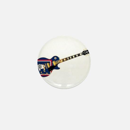 Wyoming State Flag Guitar Mini Button