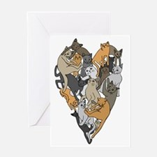 Cool Cat design Greeting Card