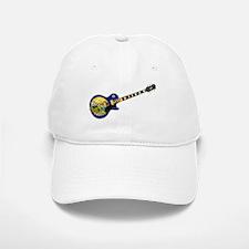 Montana State Flag Guitar Baseball Baseball Cap