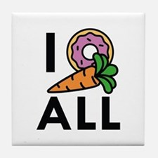 I Donut Carrot All Tile Coaster