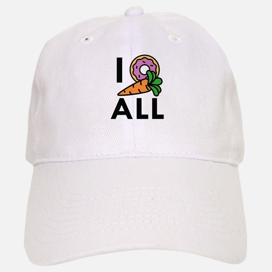 I Donut Carrot All Baseball Baseball Cap