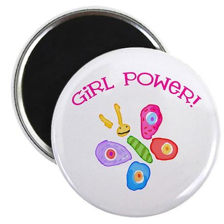 Funky Girl Power Butterfly Magnet