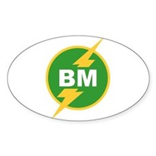 BM Best Man Oval Decal