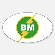 BM Best Man Oval Decal