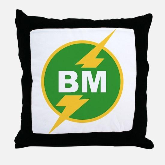 BM Best Man Throw Pillow