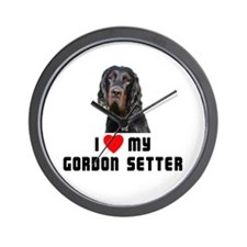 I love My Gordon Setter Wall Clock