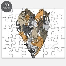 Cat Shaped Heart Puzzle