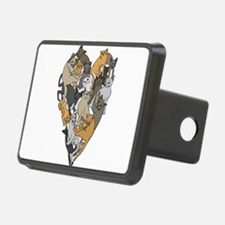 Cat Shaped Heart Hitch Cover