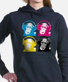 Funny Headphone in Women's Hooded Sweatshirt