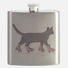 Cat Roller Skating Flask