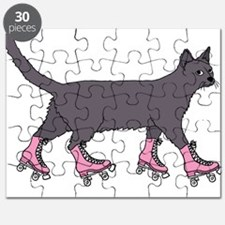 Cat Roller Skating Puzzle