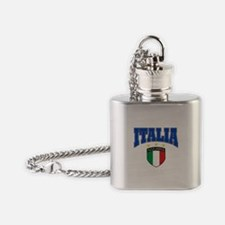 Italia azzurris star Flask Necklace
