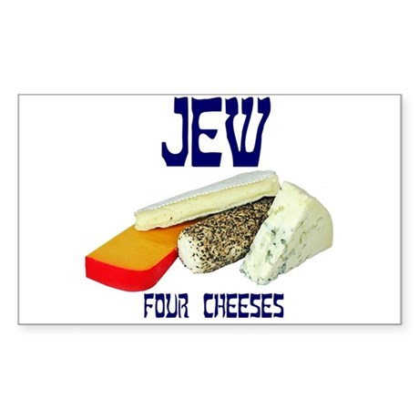 jew four cheeses Rectangle Sticker