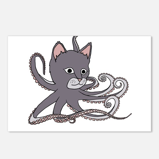 Cat Octopus Postcards (Package of 8)