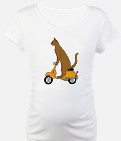 Cat On Motor Scooter Shirt