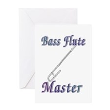 Bass Flute Master Greeting Card