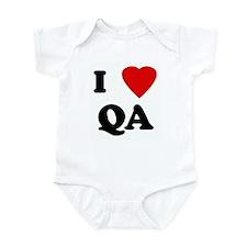 I Love QA Infant Bodysuit