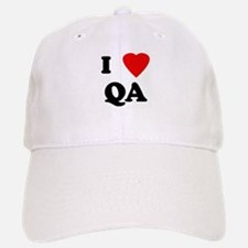 I Love QA Baseball Baseball Cap