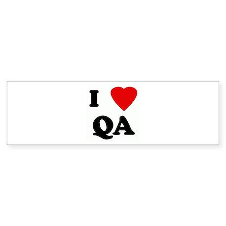 I Love QA Bumper Sticker