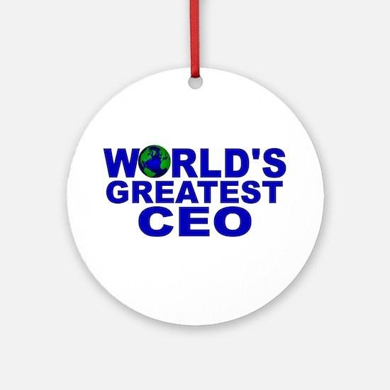 World's Greatest CEO Ornament (Round)