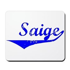 Saige Vintage (Blue) Mousepad