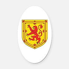 Cute Scottish lion Oval Car Magnet