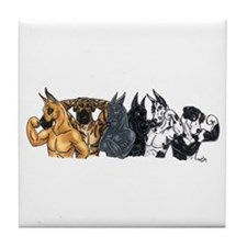 6 Studs Great Dane Tile Coaster