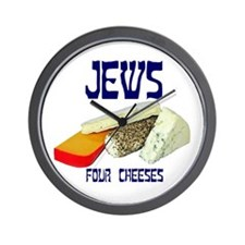 jews four cheeses Wall Clock
