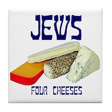 jews four cheeses Tile Coaster