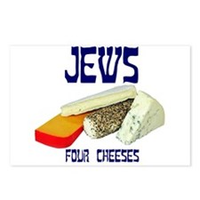 jews four cheeses Postcards (Package of 8)