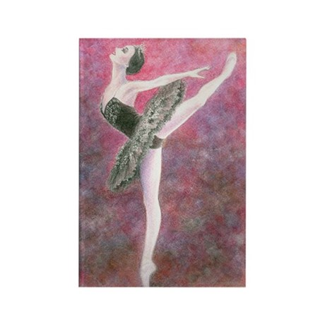 Black Swan Rectangle Magnet