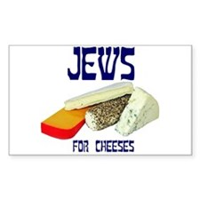 jews for cheeses Rectangle Decal