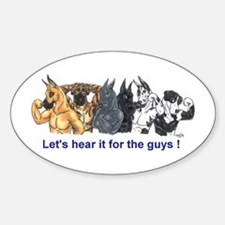 HereIt4Guys Great Dane Oval Decal