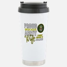 Proud Army WIfe Support Travel Mug