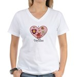 I Love Daylilies Women's V-Neck T-Shirt