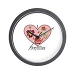 I Love Daylilies Wall Clock