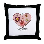 I Love Daylilies Throw Pillow