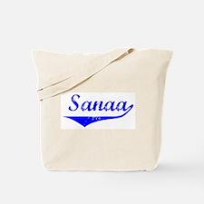 Sanaa Vintage (Blue) Tote Bag