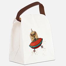 Unique Retro Canvas Lunch Bag