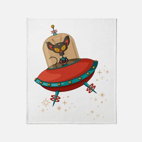 Cute Flying saucer Throw Blanket