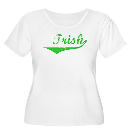 Trish Vintage (Green) Women's Plus Size Scoop Neck